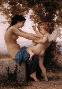 Adolphe William Bouguereau, Girl Defending Herself Against Love
