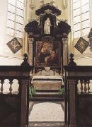 Peter Paul Rubens Rubes'funerary chapel in St Jacob's Church Antwerp,with the artist's (mk01)