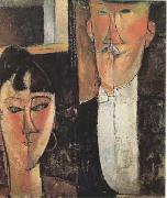 Amedeo Modigliani, Bride and Groom  (mk09)