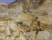 John Singer Sargent, Bringing Down Marble from the Quarries to Carrara (mk18)