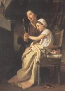 Adolphe William Bouguereau, The Thank Offering (mk26)