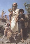 Adolphe William Bouguereau, Homer and His Guide (mk26)
