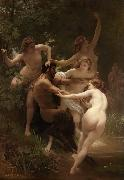 Adolphe William Bouguereau, Nymphs and Satyr (mk26)