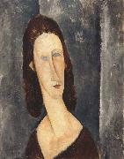 Amedeo Modigliani, Blue Eyes or Portrait of Madame Jeanne Hebuterne (mk39)