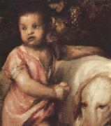 Titian The Child with the dogs (mk33) Sweden oil painting reproduction