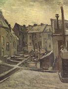 Vincent Van Gogh, Backyards of Old Houses in Antwerp in the Snow (nn04)