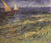 Vincent Van Gogh Seascape at Saintes-Maries (nn04)
