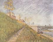 Vincent Van Gogh, Banks of the Seine wtih the Pont de Clichy (nn04)