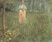 Vincent Van Gogh, A Woman Walking in a Garden (nn04)