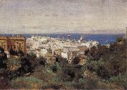 Corot Camille View of Genoa