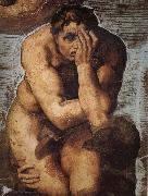 Michelangelo Buonarroti, Damned soul descending into Hell