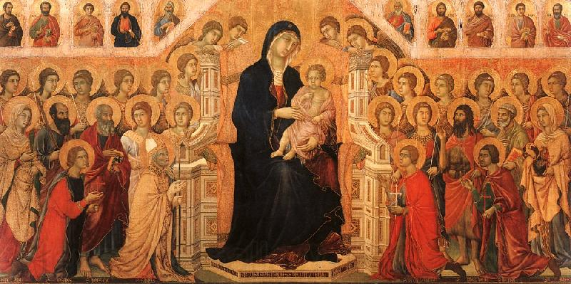 cimabue madonna enthroned with angels. Duccio di Buoninsegna Madonna