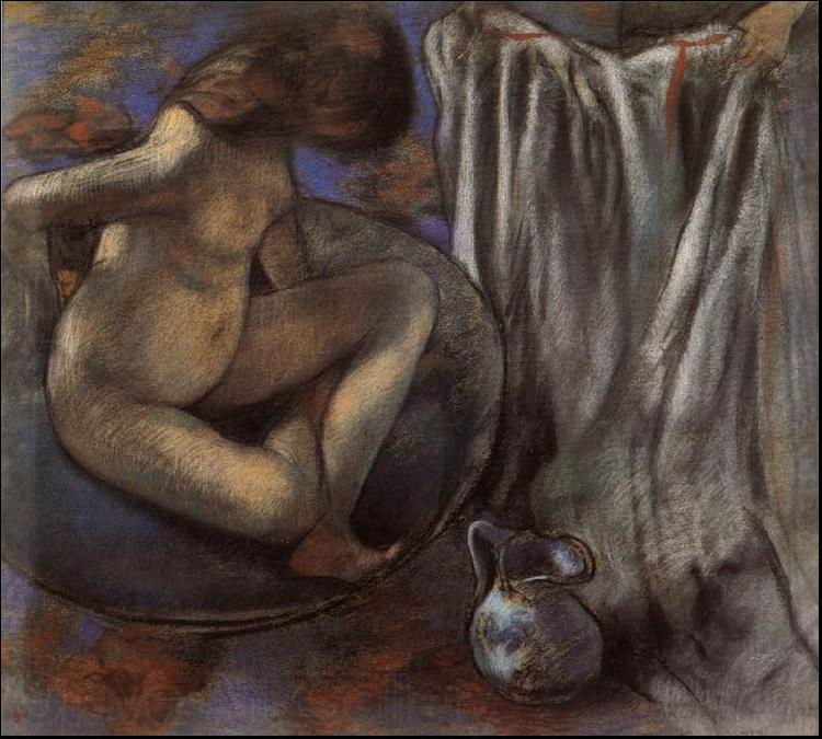 Edgar Degas Woman in the Tub