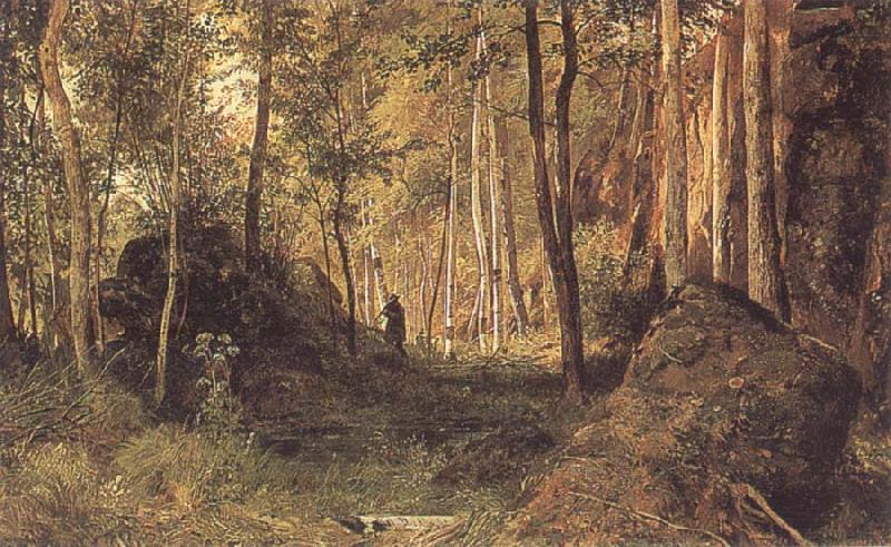 Ivan shishkin landscape with a hunter