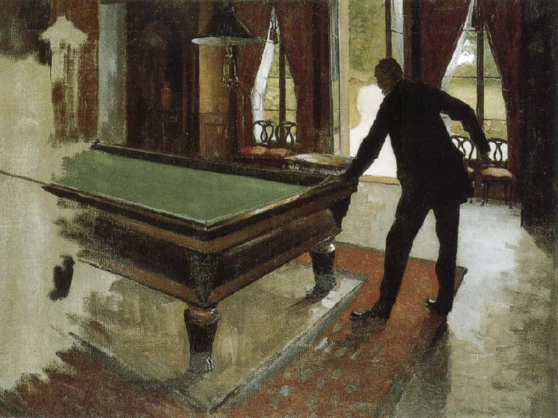 Pool Table Gustave Caillebotte Malmo Sweden Oil Painting Reproductions