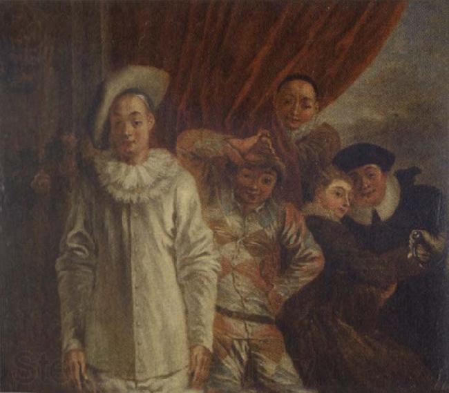 l~Arlequin, Pierrot et Scapin Jean-Antoine Watteau Les ...