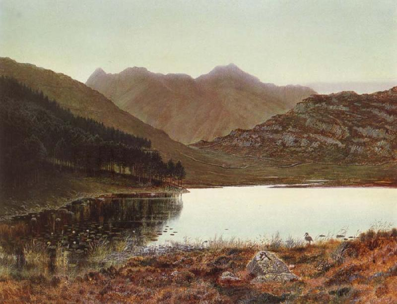 Atkinson Grimshaw Blea Tarn at First Light,Langdale Pikes in the Distance