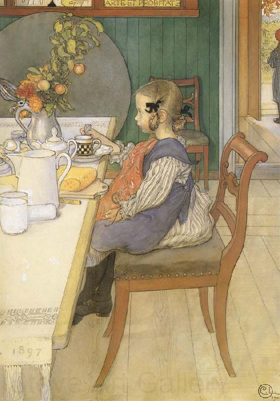 Carl Larsson A Late-Riser-s Miserable Breakfast