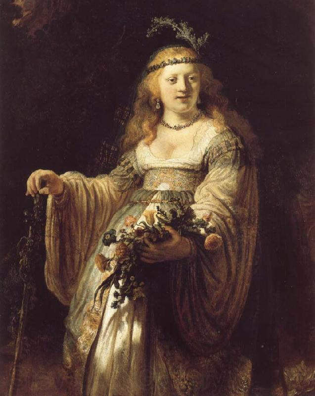 REMBRANDT Harmenszoon van Rijn Saskia van Uylenburgh in Arcadian Costume