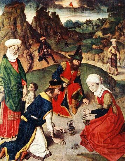 Dieric Bouts The Gathering of the Manna