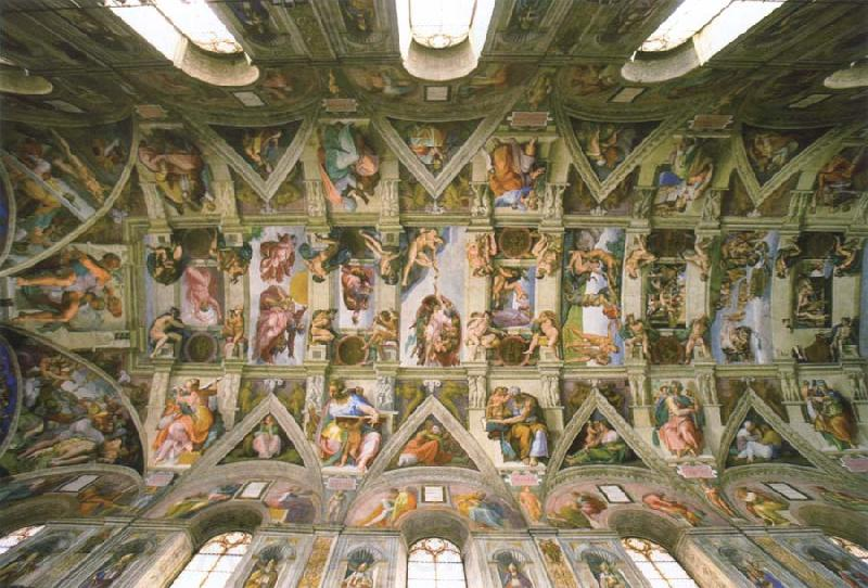 an analysis of the sistine chapel ceiling by michelangelo buonarroti Michelangelo: the sistine chapel ceiling, delphic sibyl michelangelo: the sistine chapel ceiling, the prophet ezekiel michelangelo: the sistine chapel ceiling, the prophet joel.