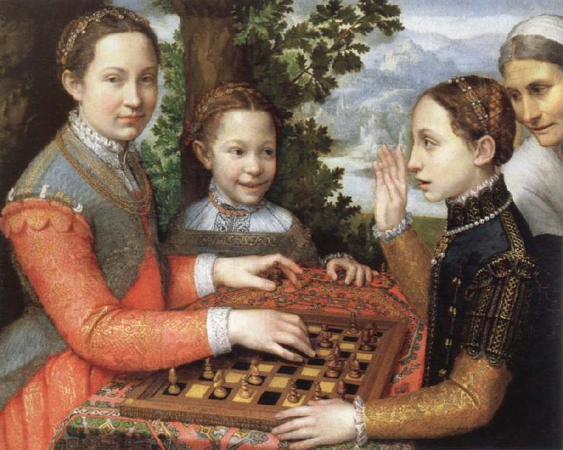 Bernardino Campi Painting Sofonisba Anguissola. Sofonisba Anguissola the chess game