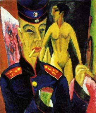 Ernst Ludwig Kirchner Self Portrait as a Soldier