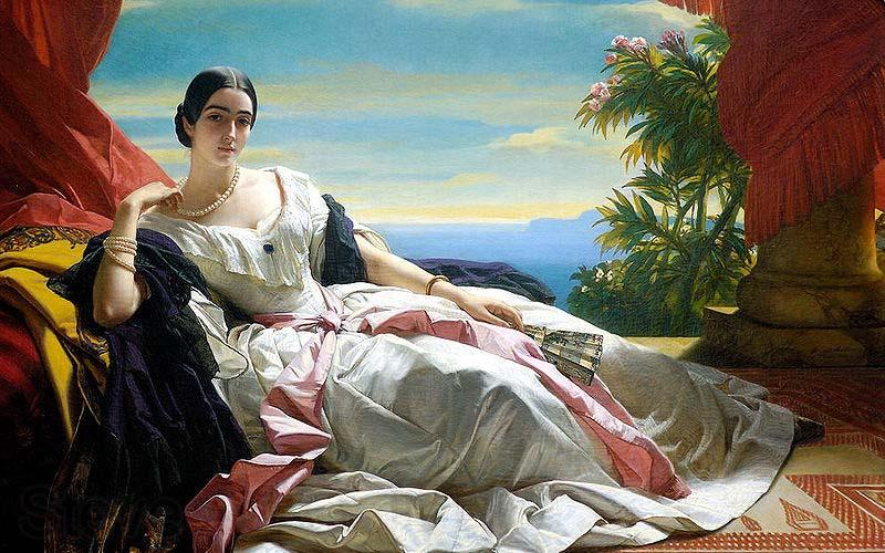Franz Xaver Winterhalter Portrait of Leonilla, Princess of Sayn-Wittgenstein-Sayn
