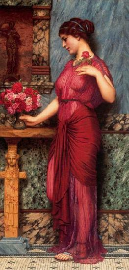 John William Godward An Offering to Venus