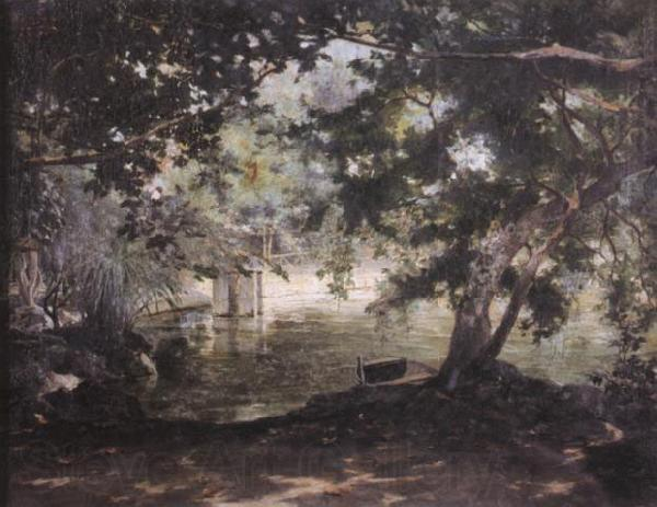 unknow artist A remembrance of the Villa Borghese,