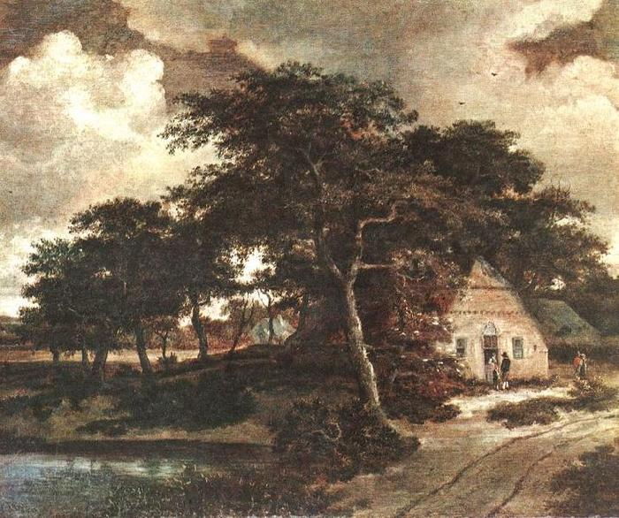 Meindert Hobbema Landscape with a Hut