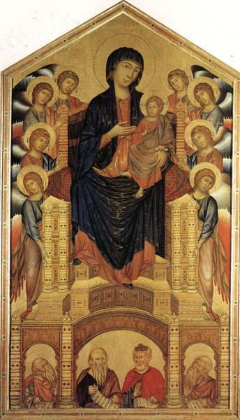 cimabue madonna enthroned with angels. Cimabue Madonna and Child
