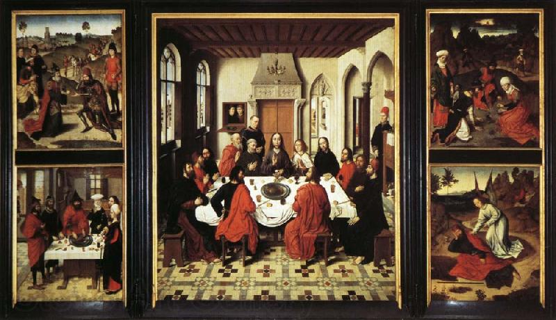 Last Supper Triptych Dieric Bouts Malmo Sweden Oil ...
