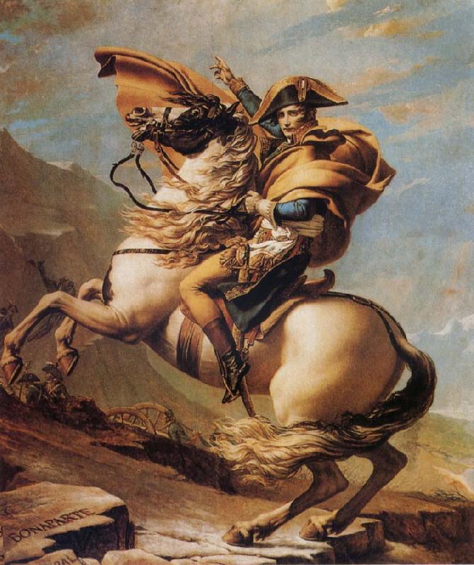 Napoleon Crossing The Alps Jacques Louis David Malmo