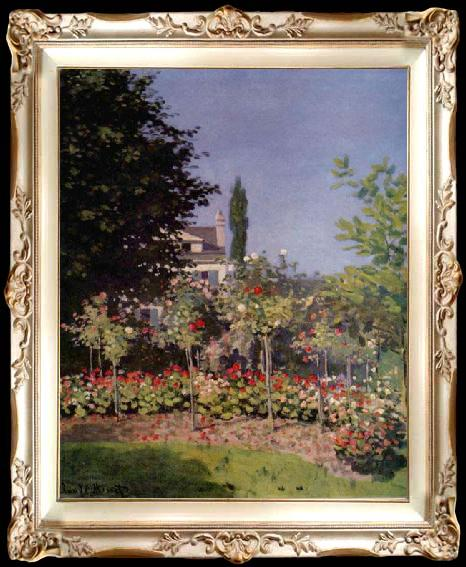 Flowering Garden At Sainte Adresse Claude Monet