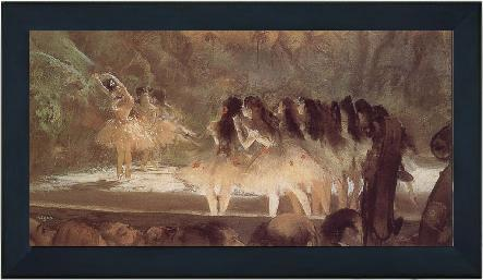ballerina s performance at opera house in paris edgar degas oljem lningar ramar spegel 50002. Black Bedroom Furniture Sets. Home Design Ideas